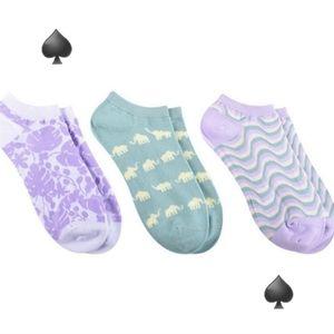 ♠️ Kate Spade 3-Pack No Show Socks